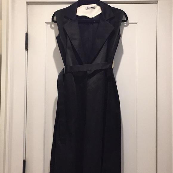 Jil Sander Dresses & Skirts - Jil Sander Black belted mid length dress